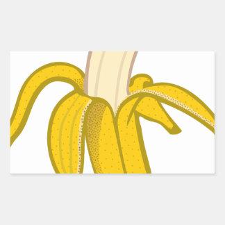 Sticker Rectangulaire Banane épluchée