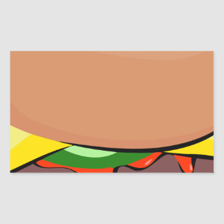 Sticker Rectangulaire Bande dessinée de cheeseburger