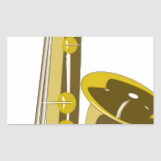 Sticker Rectangulaire Bande dessinée de saxophone