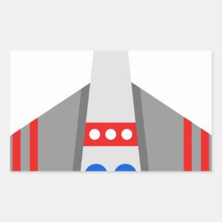 Sticker Rectangulaire Bande dessinée de vaisseau spatial