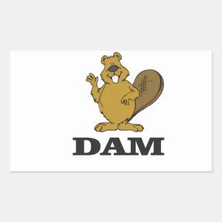 Sticker Rectangulaire barrage de castor