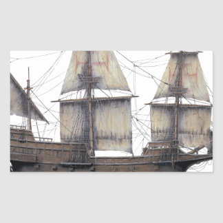 Sticker Rectangulaire Bateau d'or de 1578 Hinde