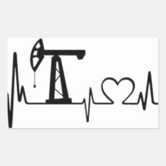Sticker Rectangulaire Battement de coeur de Jack de pompe