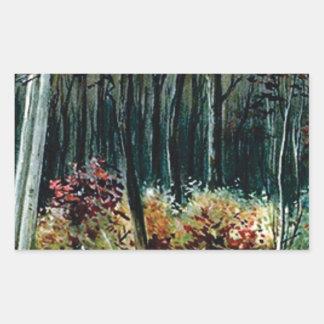 Sticker Rectangulaire beauté dans les bois