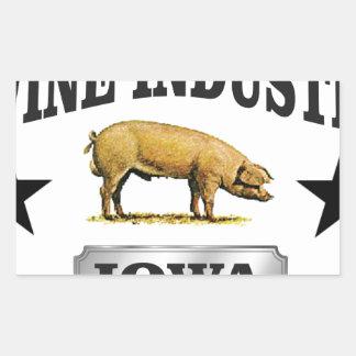 Sticker Rectangulaire bébé d'industrie de porcs