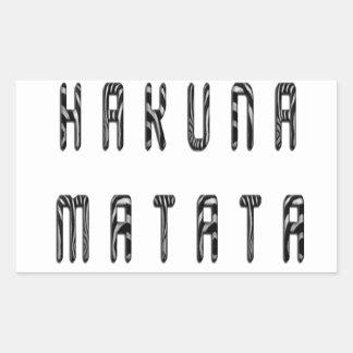 Sticker Rectangulaire Belle conception de motif d'impression de zèbre de