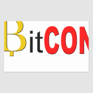 Sticker Rectangulaire BitCON 3D