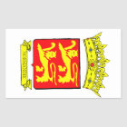 STICKER RECTANGULAIRE BLASON NORMANDIE