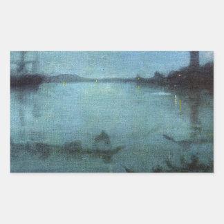 Sticker Rectangulaire Bleu et argentez la lagune Venise