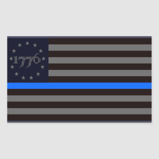 Sticker Rectangulaire Blue Line 1776