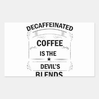 Sticker Rectangulaire boisson drôle de café