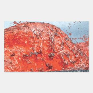 Sticker Rectangulaire bosse d'écoulement de lave