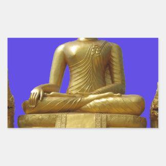 Sticker Rectangulaire Bouddha