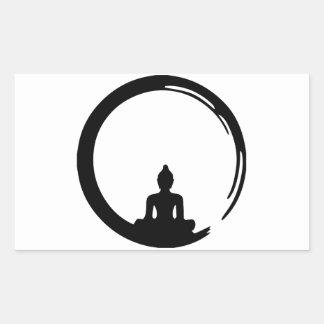 Sticker Rectangulaire Bouddha silent