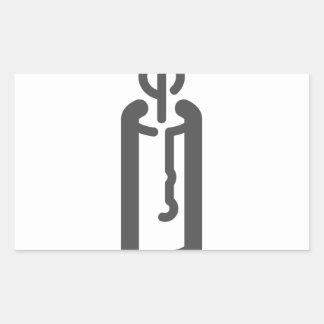 Sticker Rectangulaire Bougie