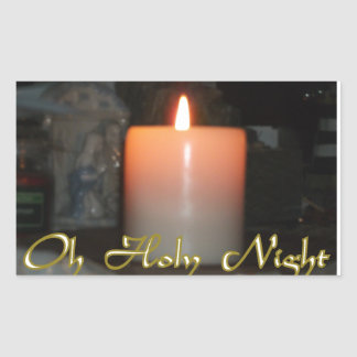 Sticker Rectangulaire Bougie sainte de vacances de nuit