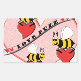 Sticker Rectangulaire Bourdonnement d'amour