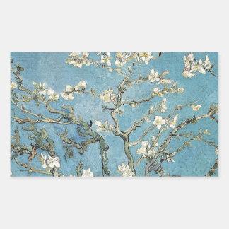Sticker Rectangulaire Branches d'amande de Vincent van Gogh | en fleur,