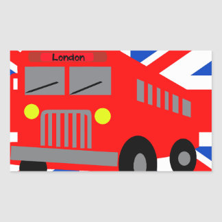 Sticker Rectangulaire Bus in London