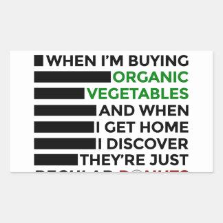Sticker Rectangulaire Butées toriques organiques d'amour de légumes