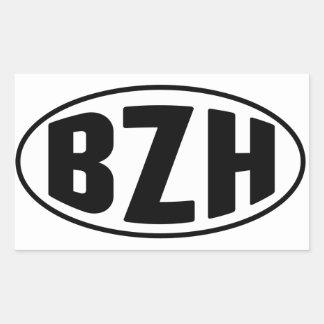 Sticker Rectangulaire BZH Bretagne Breton Breizh