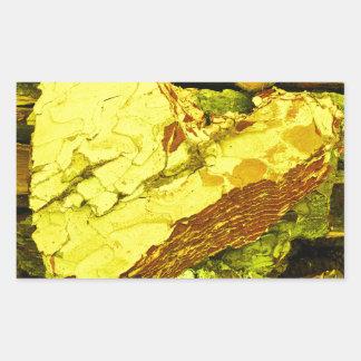 Sticker Rectangulaire c?ur d'or