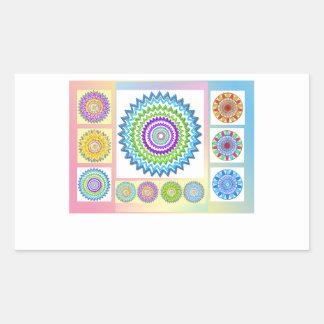 Sticker Rectangulaire Cadeaux de charme de GoodLuck : Collection de