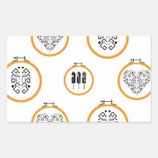 Sticker Rectangulaire Cadres de broderie de tapisserie à l'aiguille