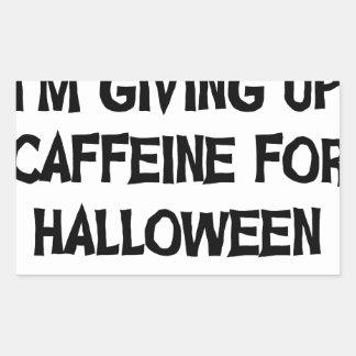 Sticker Rectangulaire Caféine pour Halloween