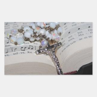Sticker Rectangulaire cahier de musique de chapelet