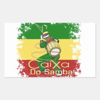Sticker Rectangulaire Caixa Batucada Samba