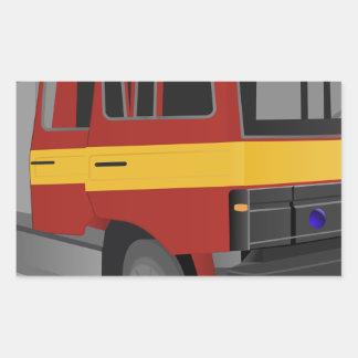 Sticker Rectangulaire Camion de pompiers