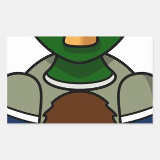 Sticker Rectangulaire canard