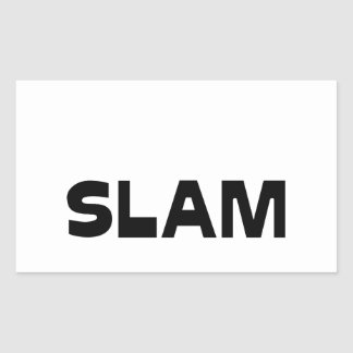 Sticker Rectangulaire Capitaine SLAM - Jeux de Mots - Francois Ville