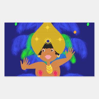 Sticker Rectangulaire Carnaval Brazil