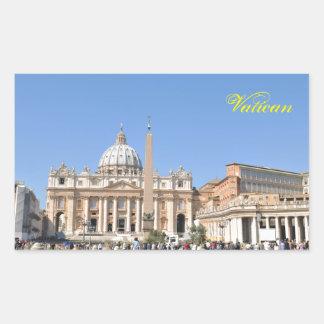 Sticker Rectangulaire Carré de San Pietro à Vatican, Rome, Italie