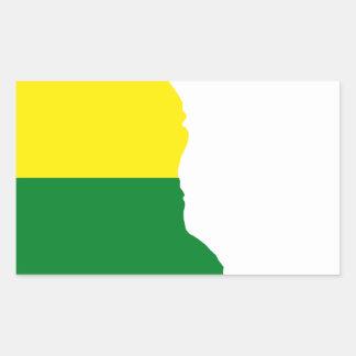 Sticker Rectangulaire Carte de drapeau du Delaware LGBT