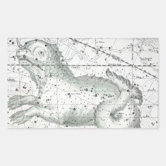 Sticker Rectangulaire Carte du plat XXIII de constellations