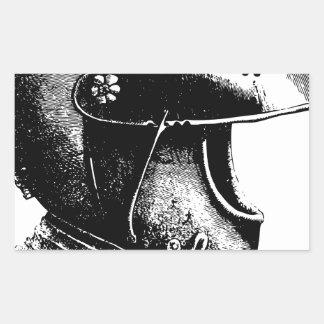 Sticker Rectangulaire Casque de chevalier