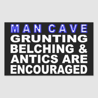 Sticker Rectangulaire Caverne d'homme