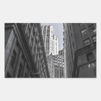 Sticker Rectangulaire Centre Metropole de New York City de gratte-ciel