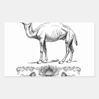 Sticker Rectangulaire chameau de fantaisie de lion