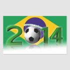 Sticker Rectangulaire Championnat 2014 du monde du football