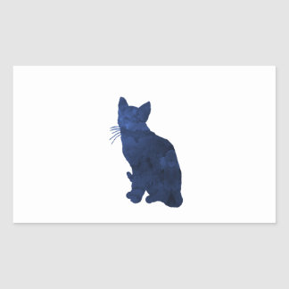 Sticker Rectangulaire Chat