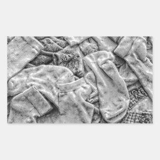 Sticker Rectangulaire Chaussettes