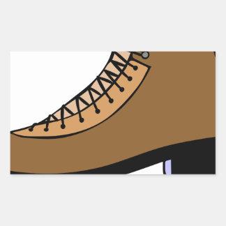 Sticker Rectangulaire Chaussure de patin de glace