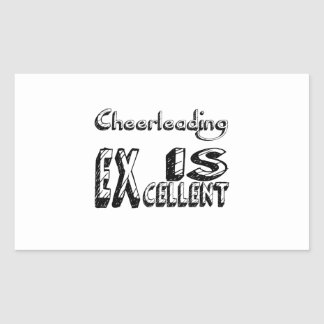 Sticker Rectangulaire Cheerleading est excellent