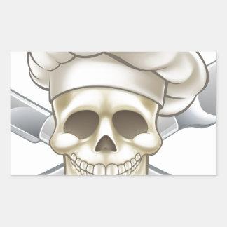 Sticker Rectangulaire Chef de couteau et de pirate de fourchette
