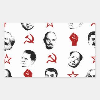Sticker Rectangulaire Chefs communistes