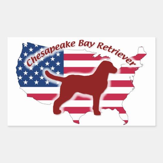Sticker Rectangulaire Chesapeake Bay Retriever